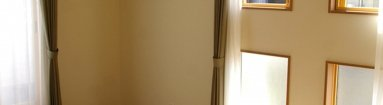 写真:採光にこだわったリビングと寝室