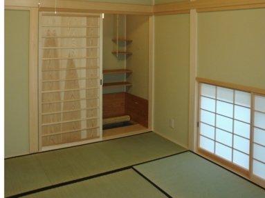 写真:茶室となる水屋付きの和室