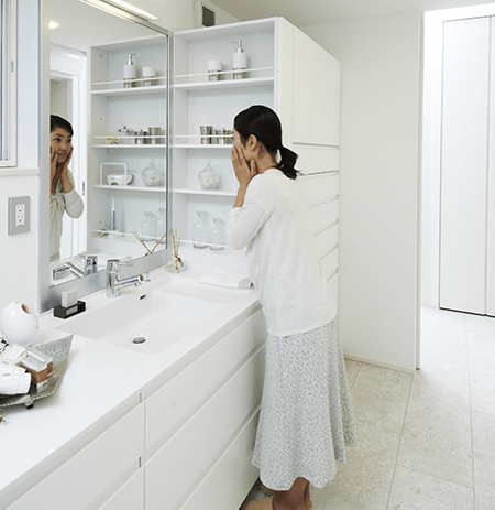 ポイント2: 専用洗面室