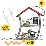 地震 台風 雪